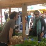 Unser Gärtner auf dem Markt